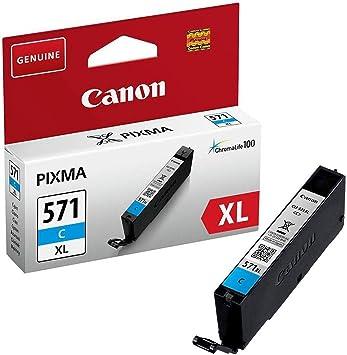 Canon Cli 571 Xl C Druckertinte Cyan Hohe Reichweite 10 8 Ml Für Pixma Tintenstrahldrucker Original Bürobedarf Schreibwaren