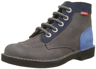 1b1a30d8be1367 Kickers Kick Col, Boots mixte enfant: Amazon.fr: Chaussures et Sacs
