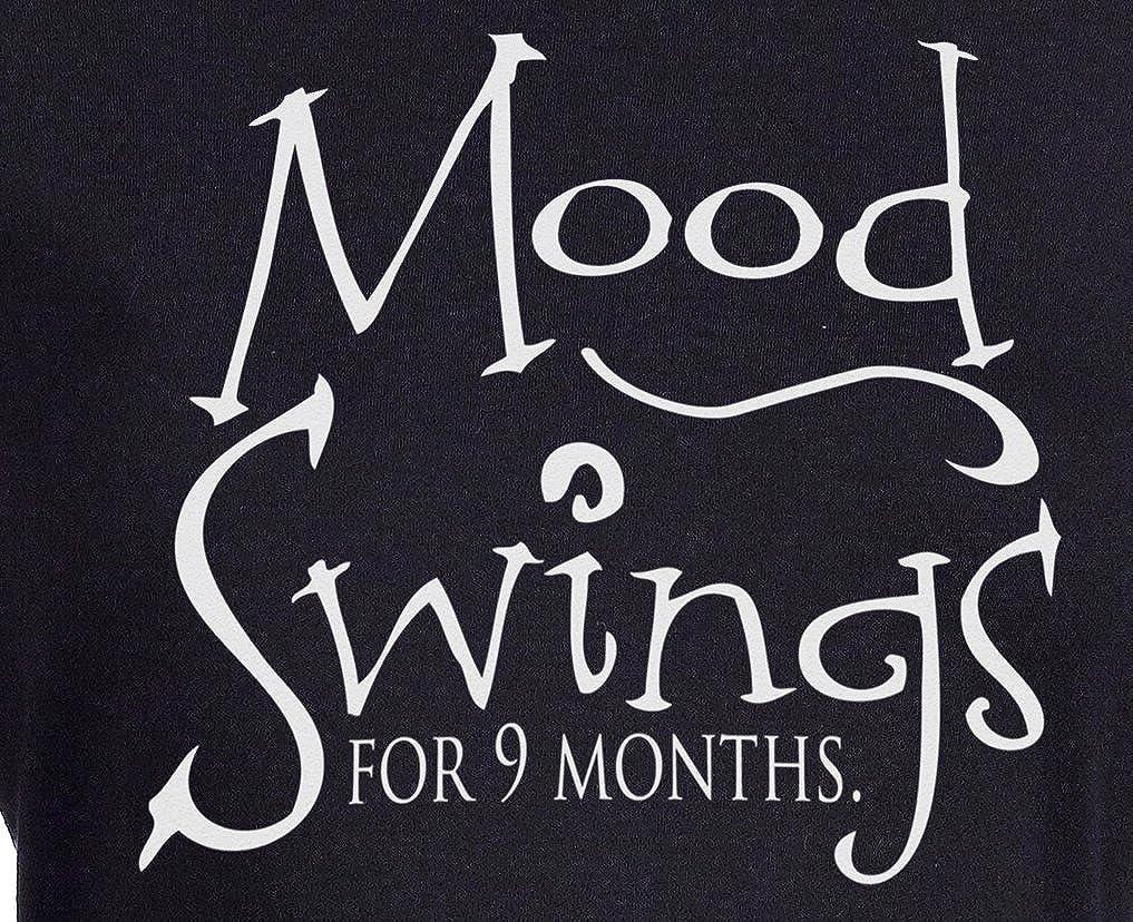 288b83ff7572f Amazon.com: Spoilt Rotten - Mood Swings For 9 Months - 100% Organic Cotton Maternity  T-Shirt: Clothing