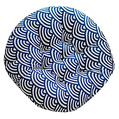 Comfort Chair Cushion Round Chair Pads Soft Thicken Seat Pads Pillow for Office, Home, Sofa, Car Sitting, Patio, Garden, Dinning Chair Cushion Mat, 15.74 X 15.74 X 1.96inch (Fish Scale Pattern)