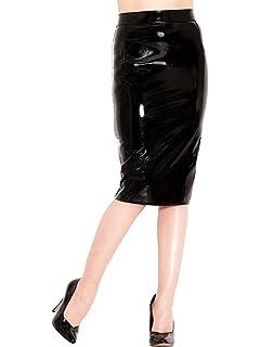 Pencil Skirt In Black Honour Sexy Women's Style Secretary Latex 4AL35jR