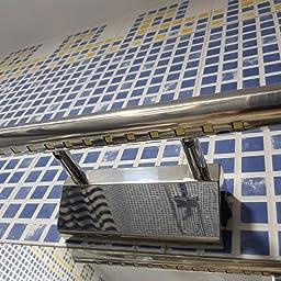 Acero inoxidable espejo lámpara abedoe IP44 baño lámpara – Lámpara de pared para baño Espejo Luz lateral con interruptor color blanco [Clase energética A + +]: Amazon.es: Iluminación