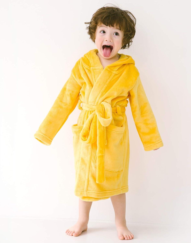 VAENAIT BABY 1-7 Boys Plush Soft Fleece Printed Hooded Beach Cover up Pool wrap