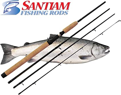 "SANTIAM FISHING RODS 4 PC 8/'6/"" 6-12 LB SPINNING  ALASKAN TRAVEL ROD"