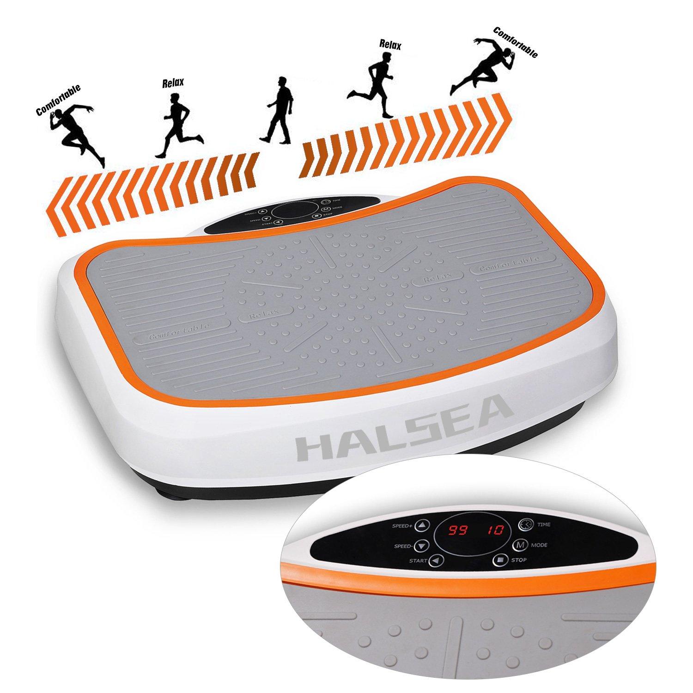 HALSEA Salcar Placa de vibración con 3D basculante Vibrations Tecnología +, Superficie Enorme, 1 Potente Motores + einmaliges Diseño + Bandas de ...