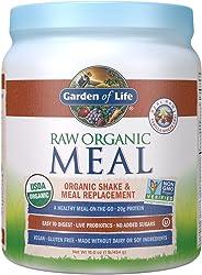 Garden of Life Meal Replacement Vanilla Chai Powder, 14 Servings, Organic Raw Plant Based Protein Powder, Vegan, Gluten-Free