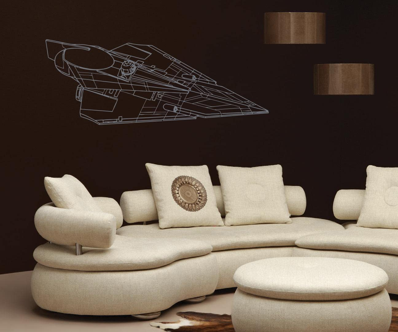Amazon Com Delta 7 Jedi Starfighter Star Wars Nursery Room Kids Bedroom Wall Sticker Decal Wall Art Decor G7307 2 Home Kitchen