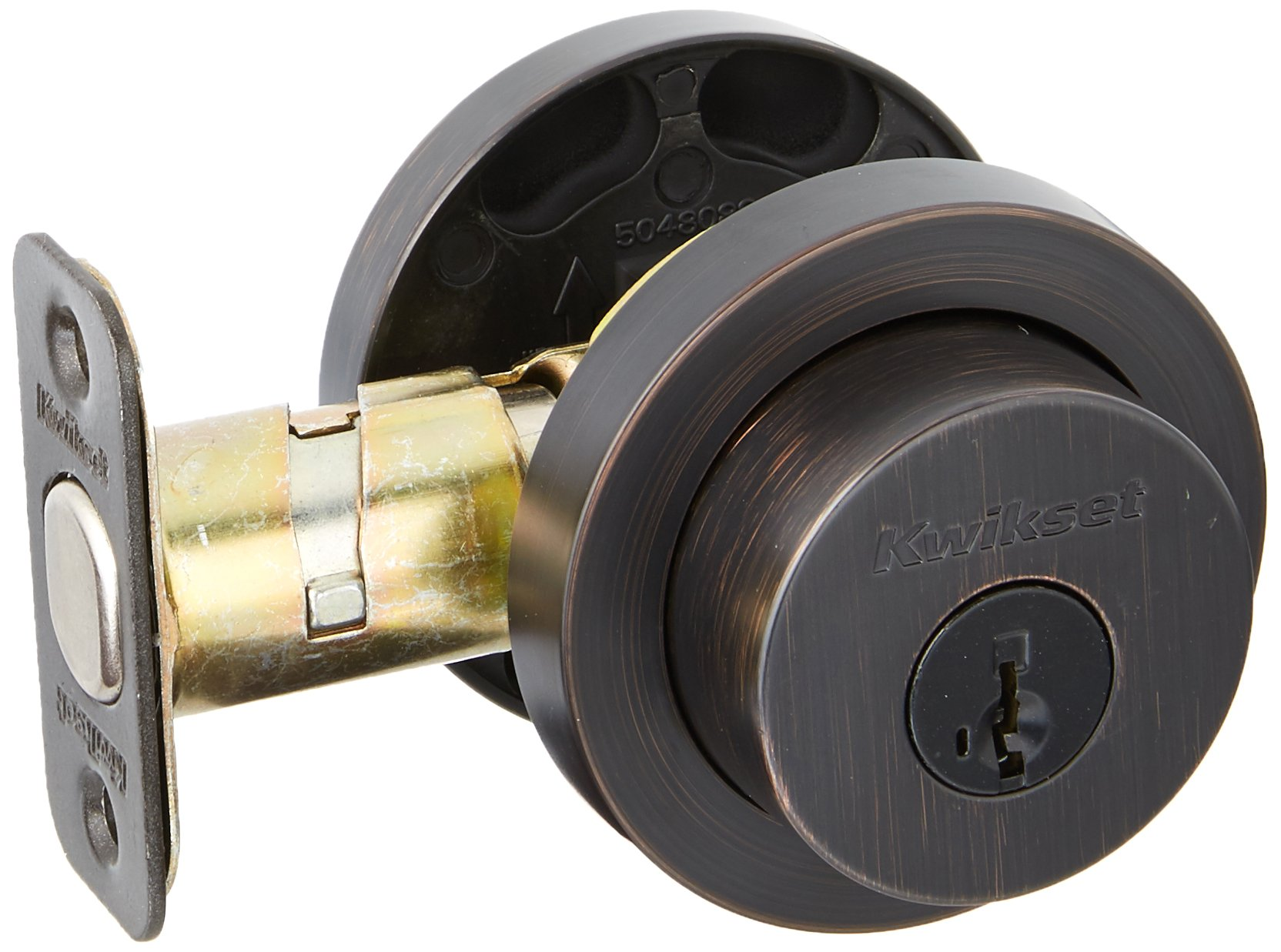 Kwikset 158RDT-11PS Milan Round Single Cylinder Deadbolt Smart Key Venetian Bronze Finish