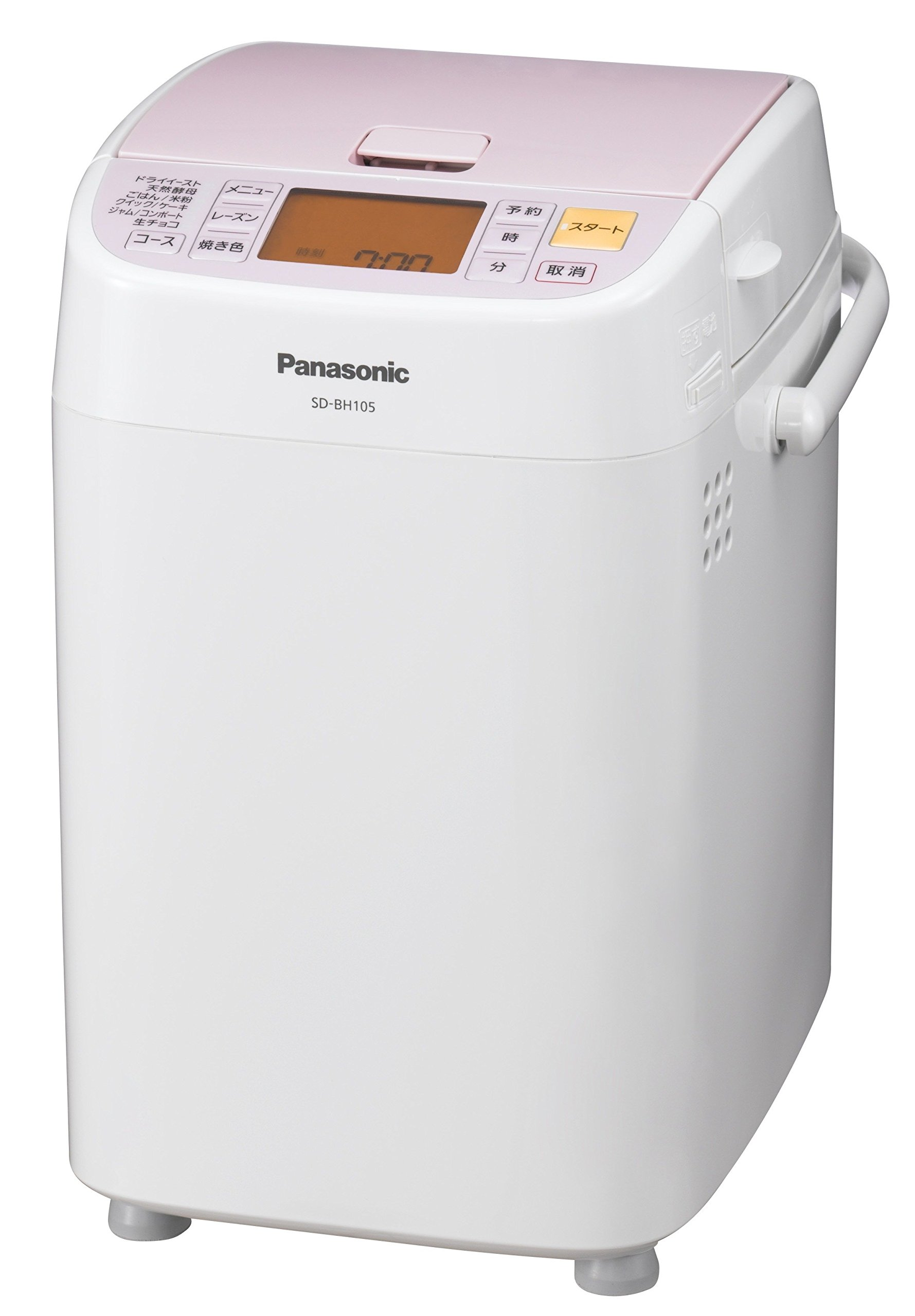 Panasonic: NEW Home bakery (One Loaf of Bread Type) SD-BH105-P Pink (Japan Import)