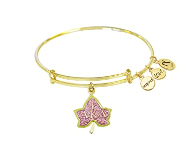 7cb42c06c Image Unavailable. Image not available for. Color: Navika Pink Ivy Alpha  Kappa Alpha Inspired Love Bangle- Gold