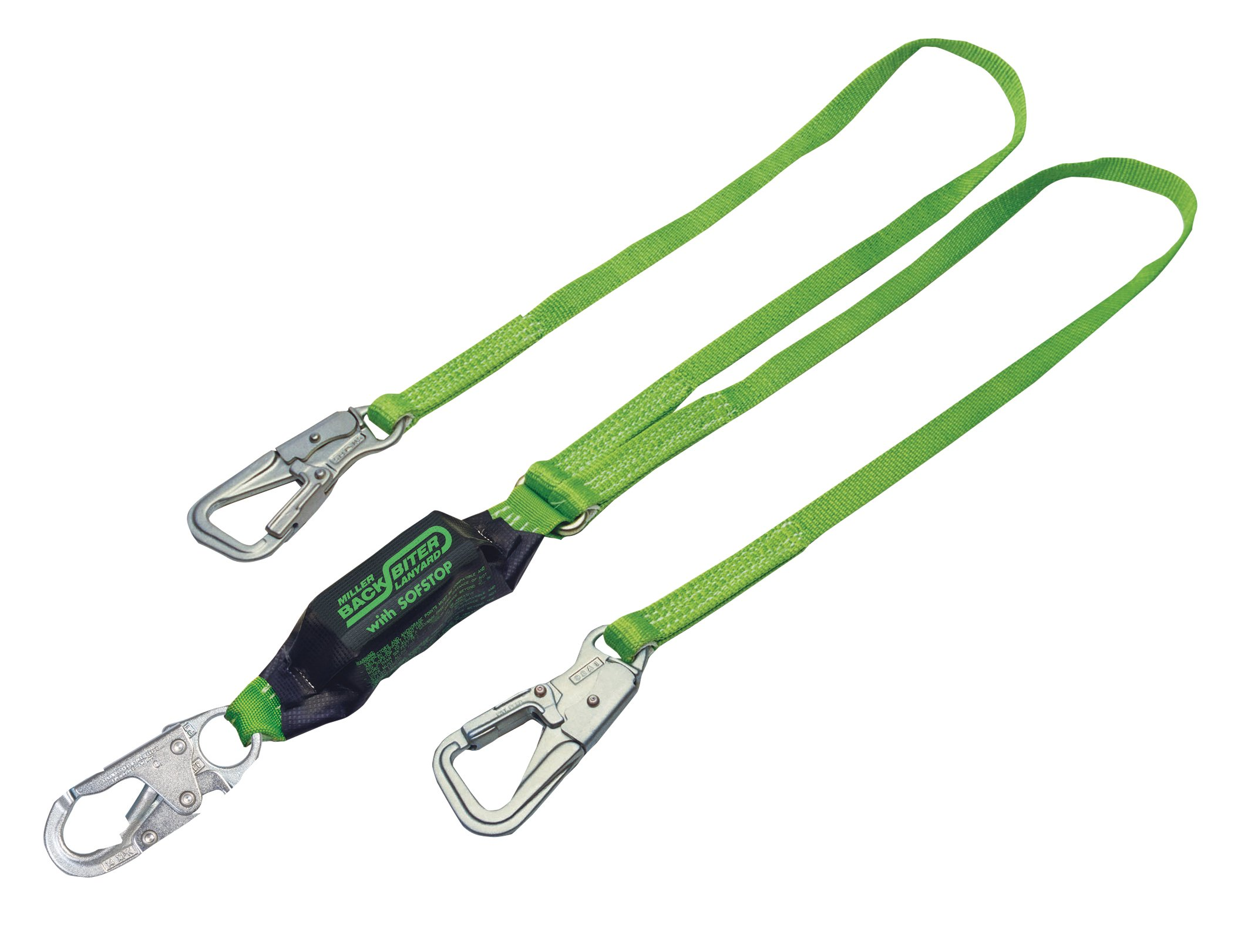Miller by Honeywell 8798B/6FTGN Backbiter 2 Leg Lanyard by Honeywell