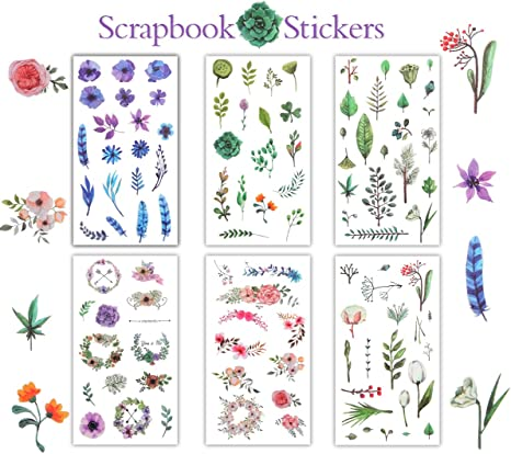 5 x Grenouille Scrapbook Stickers grand Peel Off Aquarelle Journalisation Portable Craft