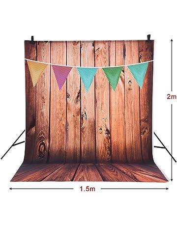 Andoer 1.5 * 2m Fondo Fotografía Telón de Fondo Patrón de Colores de la Bandera de