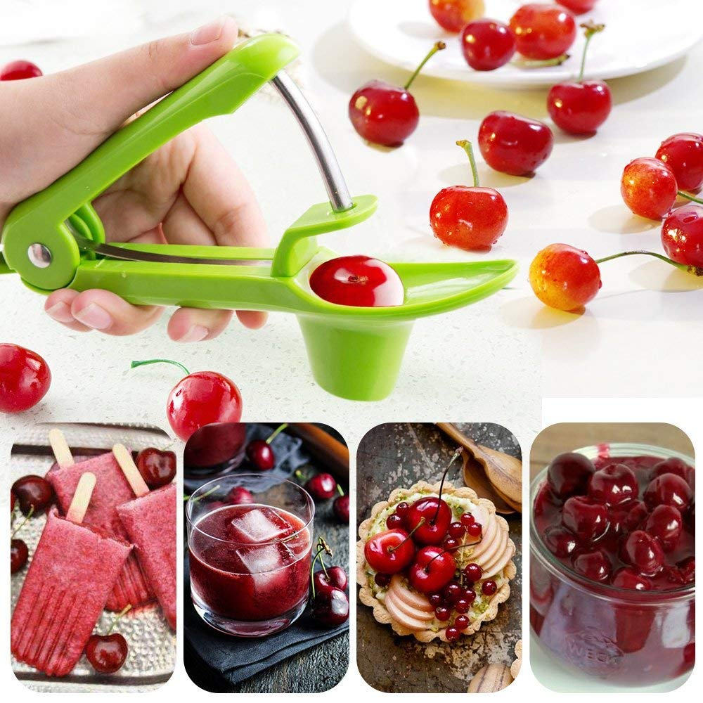 IPEC THERAPY Cherry Pitter,Portable Cherry Pitter Remover Cherry Pitter Tool Olive Pitter Tool Cherry Stoner Cherry Seed Remover by IPEC THERAPY (Image #2)