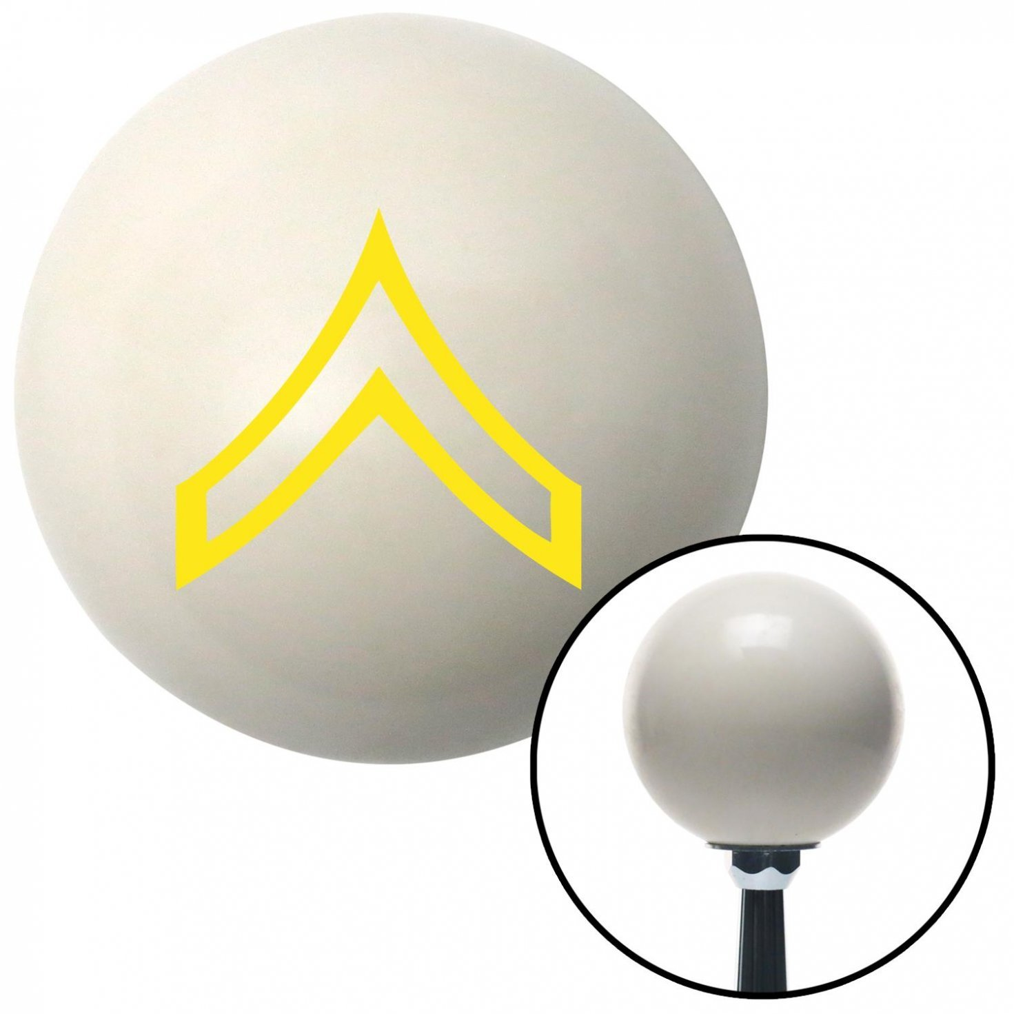 American Shifter 35672 Ivory Shift Knob with 16mm x 1.5 Insert Yellow Private