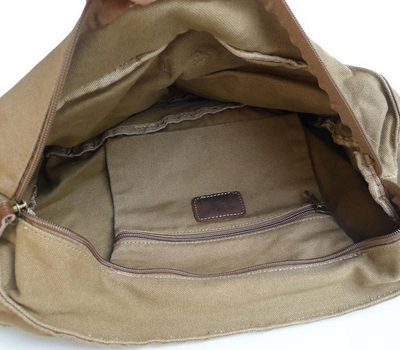 Vintage Cotton Canvas 13.5 100/% Cotton Washed Canvas Messenger Bag C51.BLK