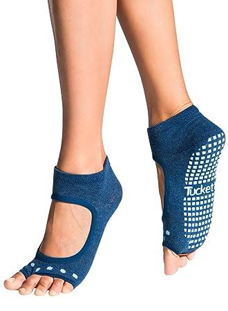 Calcetines Yoga Pilates Antideslizante Deporte Mujer, Colchoneta deporte accesorios yoga, Calcetín dedos para Ballet, Barra Fitness, Danza, Running