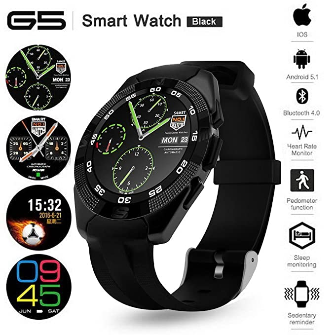 Bluetooth Smart Watch Fitness Tracker Reloj con frecuencia ...