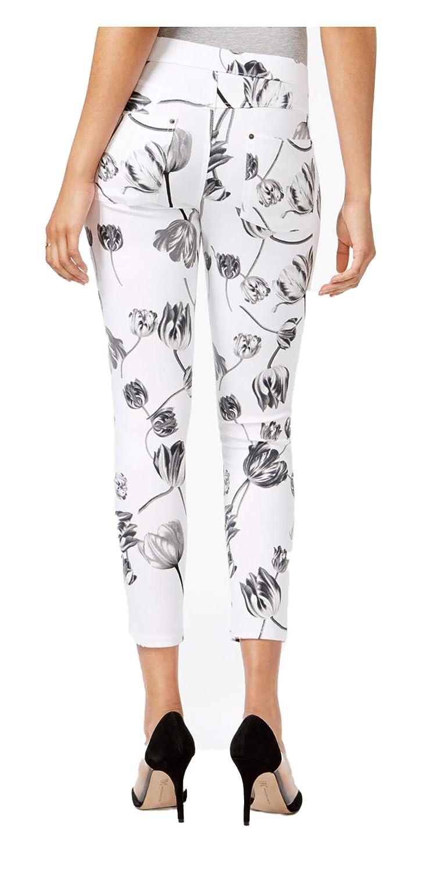 HUE White Womens Tulip Essential Denim Skimmer Leggings White Large 12-14