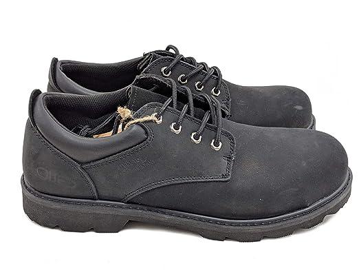 60ef69c8499 Jacata Men's Low-Cut Work Boots Water Resistant Boots Heavy Duty Natural  Rubber Blend Soles (10, Black Nubuck Steel Toe)