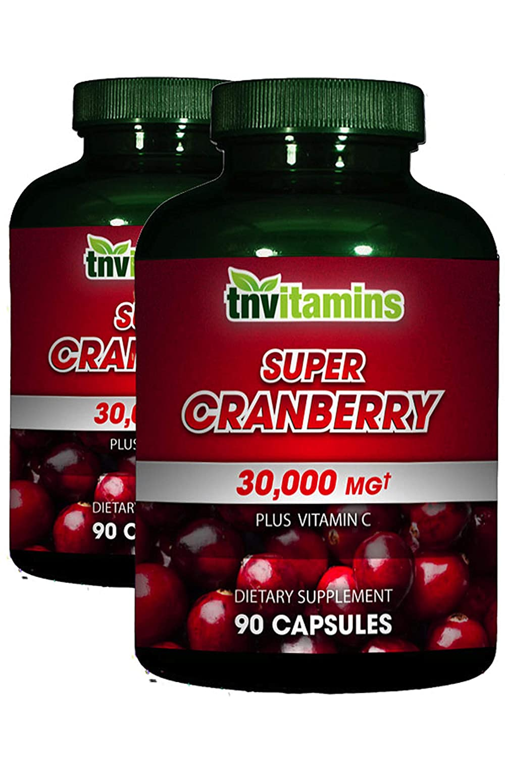 Super Cranberry 15,000 mg with Vitamin C by TNVitamins -180 Capsules (2 x 90)