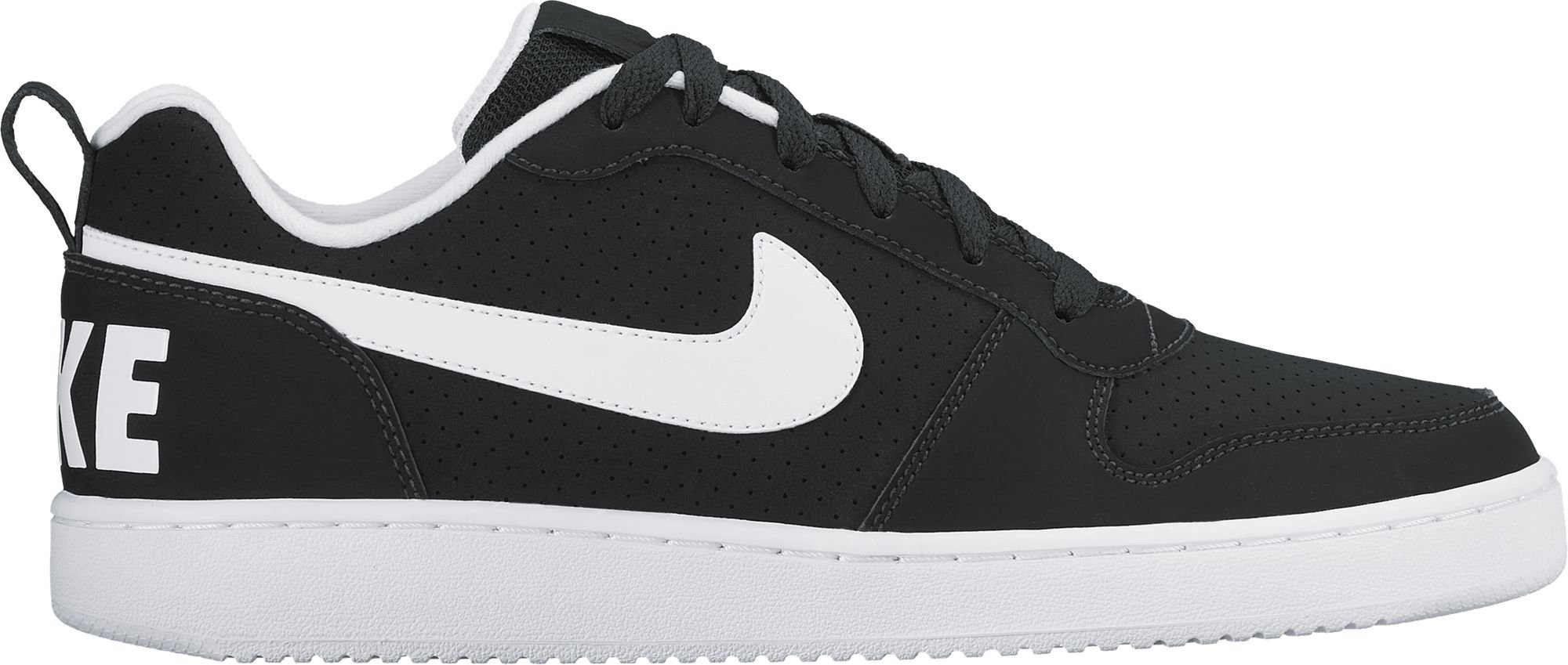 NIKE Men's Court Borough Low Basketball Shoe, Black/White, 9.0 Regular US by NIKE