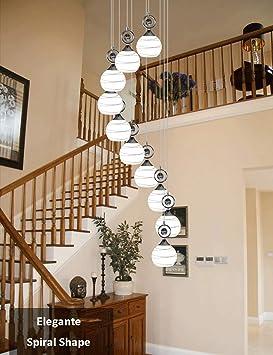Lighting Colgantes 10 Bds Cristal De Luces Modernas Escalera Bolas oWdCxBeQr