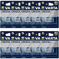 Varta CR123A professionellt batteri (10-pack, fotobatteri litiumjon för högteknologiska kameror och blixtar eller…