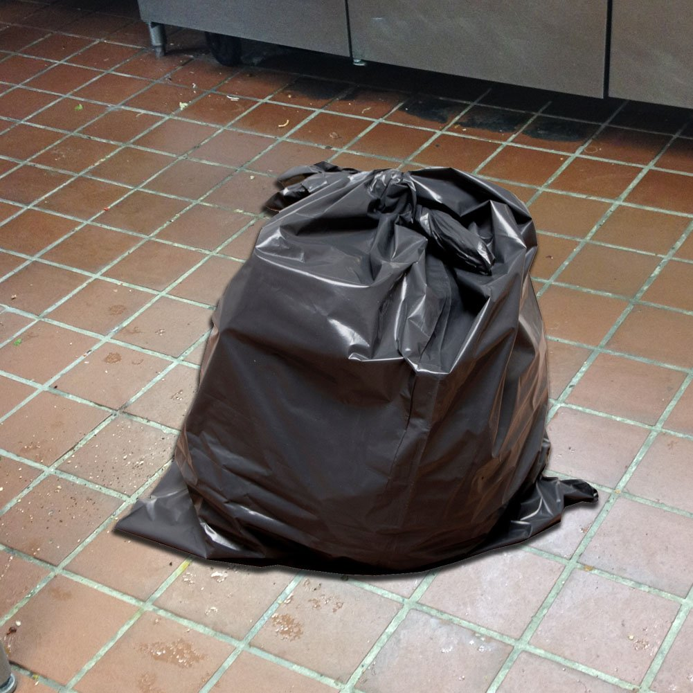 60 Gallon Extra Large Contractor Trash Bags 3 Mil, Durable Heavy Duty, Made in USA, Tough Garbage Bags for Cleanups Drum Liners 3mil (100)-41x55 by Ox Plastics (Image #5)