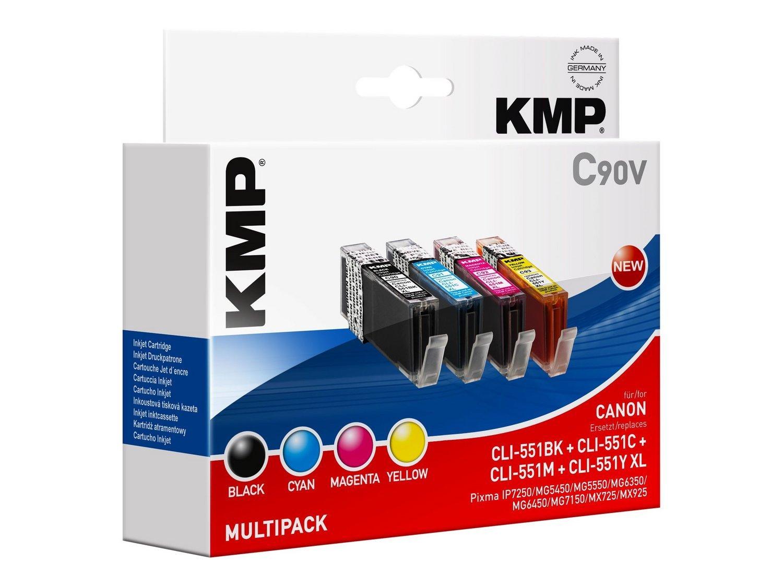 C90V Vorteilspack kompatibel mit CLI-551 BK/C/M/Y: Amazon.es ...