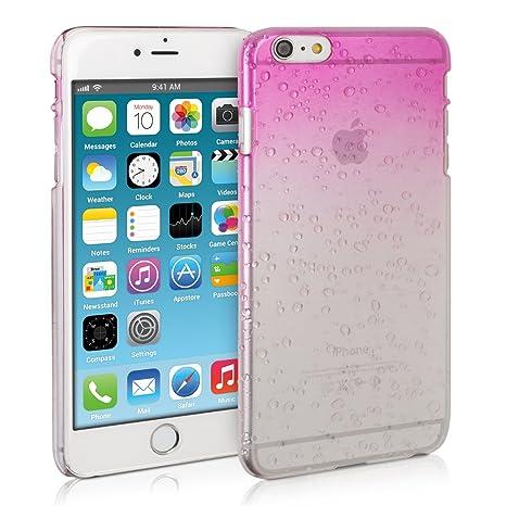 3571aade0a4 kwmobile Funda Hardcase Diseño gotas de lluvia para > Apple iPhone 6 Plus /  6S Plus