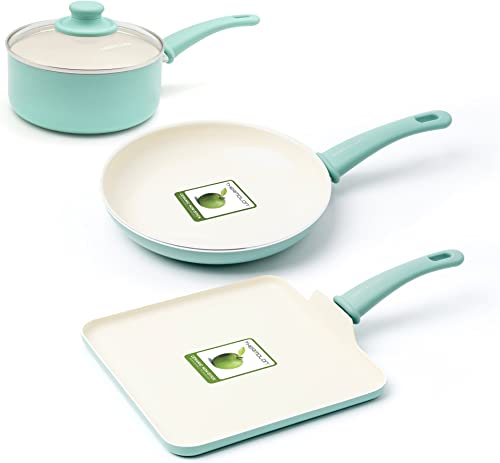 GreenLife Soft Grip Stay Cool Handle Cookware Set