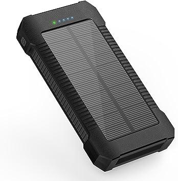X-DNENG Batería externa Solar Teléfono móvil Batería Banco de ...