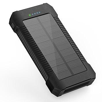 X-DNENG Batería externa Solar Teléfono móvil Batería Banco ...