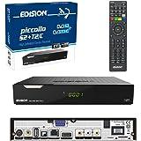Edision PICCOLLO, Combo Ricevitore S2+ T2/C H.265/HEVC (DVB-S2, DVB-T/T2, DVB-C), Full HD, USB Nero