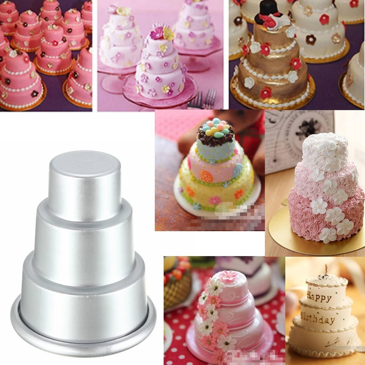 El Rey DO forma Mini magdalena hornear molde pastel de la lata de la galleta de los pasteles de Chocolate con leche Pan decoración 3-nivel de 60 x 30 x 80 ...