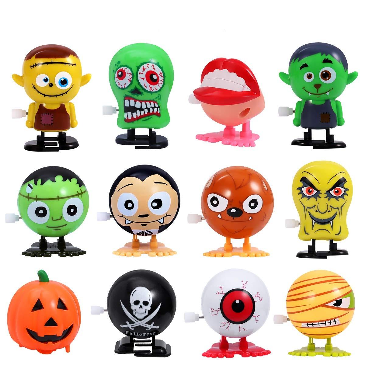 PRETYZOOM 12 Piezas de Juguetes de Relojería de Halloween para La Fiesta Favorece Mini Juguetes Surtidos Suministros de La Fiesta de Halloween para Niños y Adultos