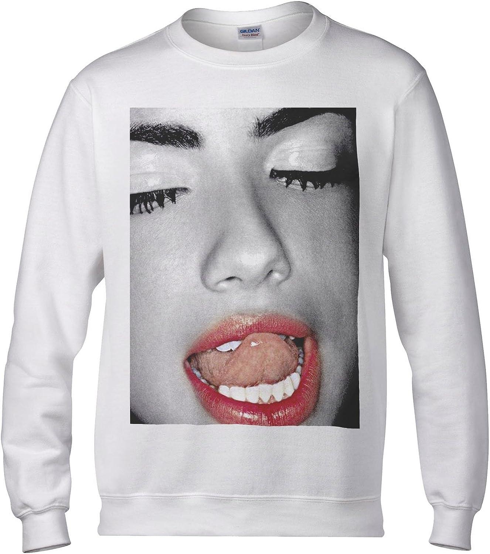 Funny Novelty Sweatshirt Jumper Top Kiss Lips
