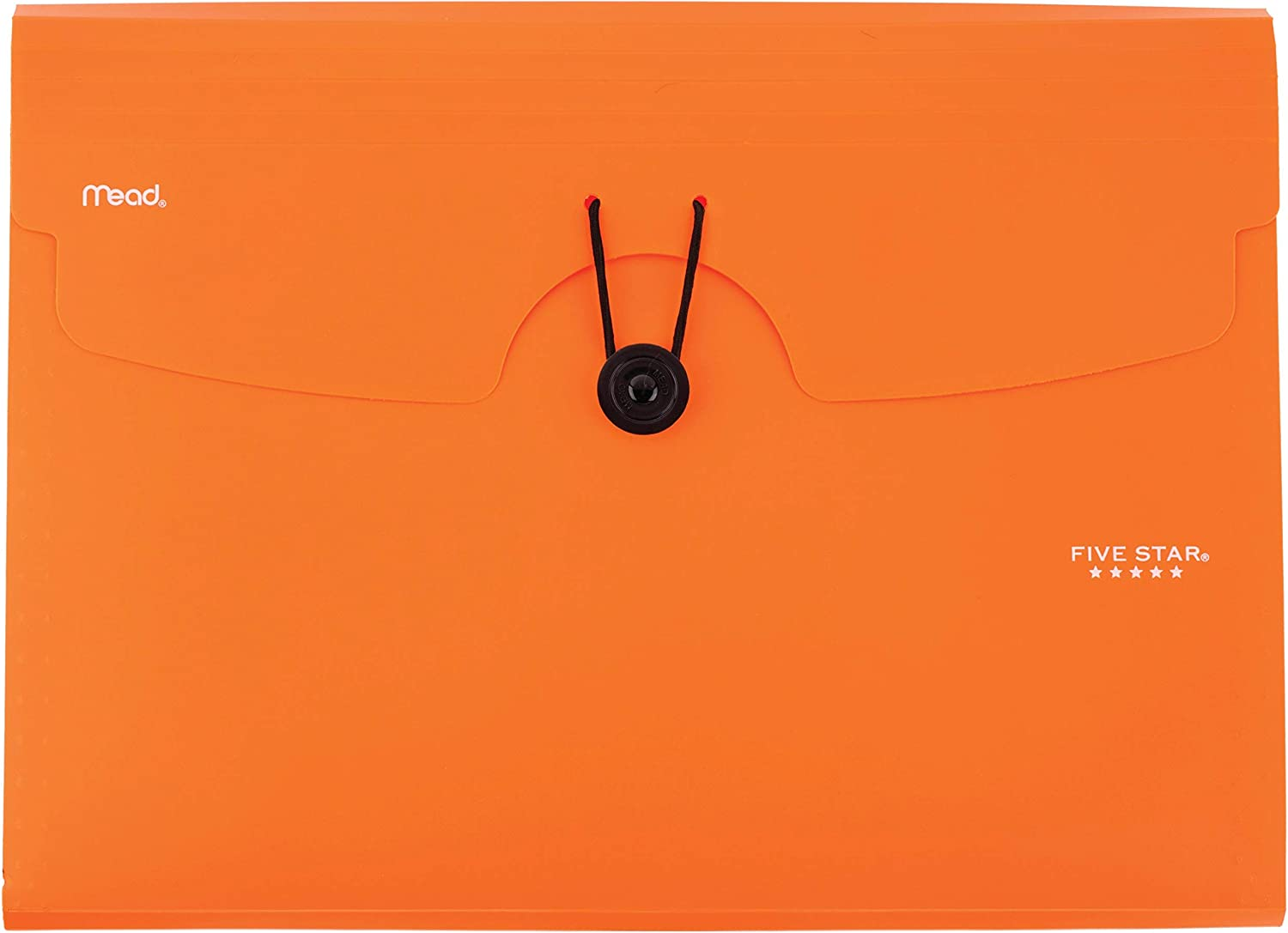 Five Star 6-Pocket Expanding File Organizer, Plastic Expandable Letter Size File Folders with Pockets, Home Office Supplies, Portable Paper Organizer for Receipts, Bills, Documents, Orange (72923)