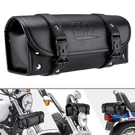 Motorcycle Fork Bag Handlebar Bag Sissy Bar Tool Bag for Yamaha Honda Sportster Softail Dyna Kawasaki Suzuki Ducati KTM Roll Tool Bag