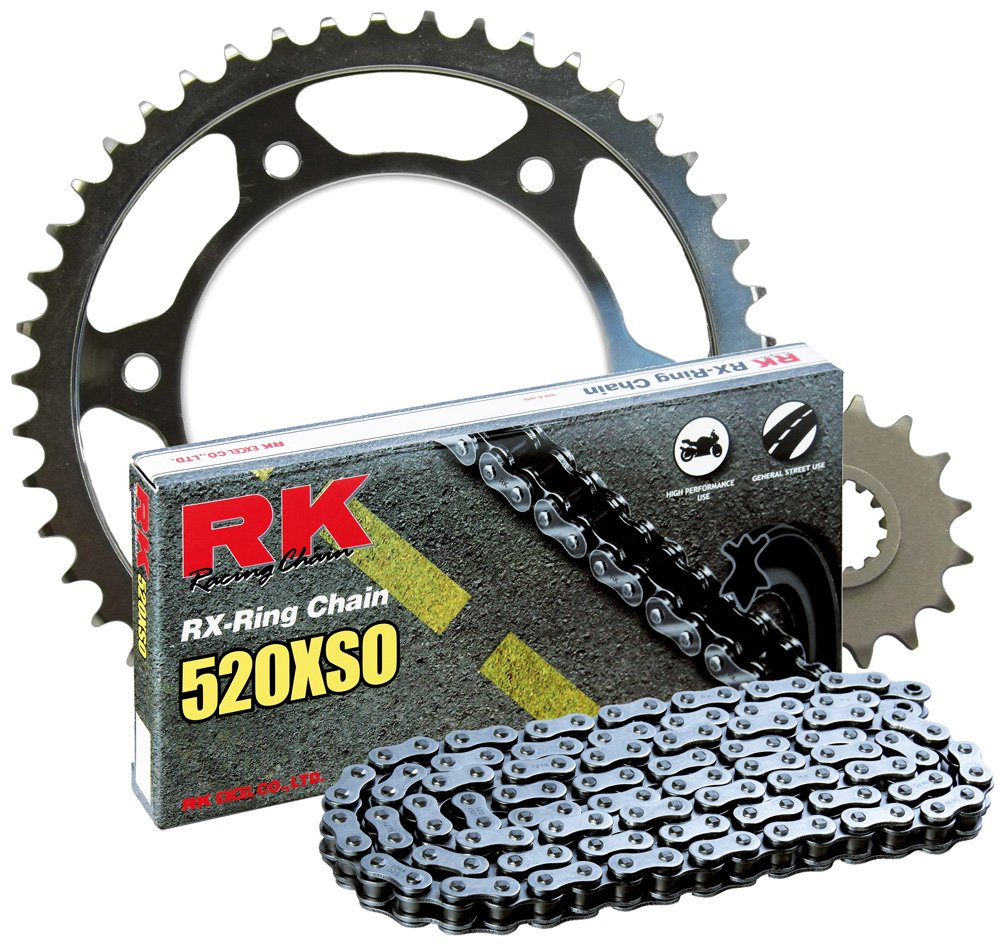 RK Racing Chain 2068-050S Steel Rear Sprocket and 520XSO Chain 520 Steel Conversion Kit