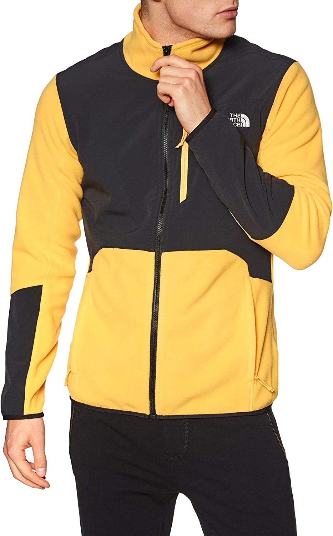 THE NORTH FACE Glacier Pro Full Zip Men clear lake blue/tnf black 2020 Jacket Yellow
