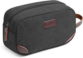 4f5c52c78f Men s Travel Toiletry Organizer Bag Canvas Shaving Dopp Kit TSA Approved  (Black)