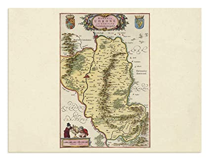 Amazon Com The Blaeu Prints Carlow Ireland County Carlow