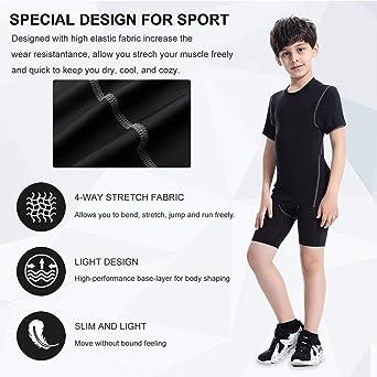 Sanke Soccer Sports Capri Compression Short Legging//Tights for Boys Girls