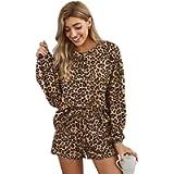 ELF QUEEN Womens Girls Frill Long Sleeve Shirt and Pants Pajamas Set Soft Cute PJ Set Jersey Shorty Sleepwear Lounge…
