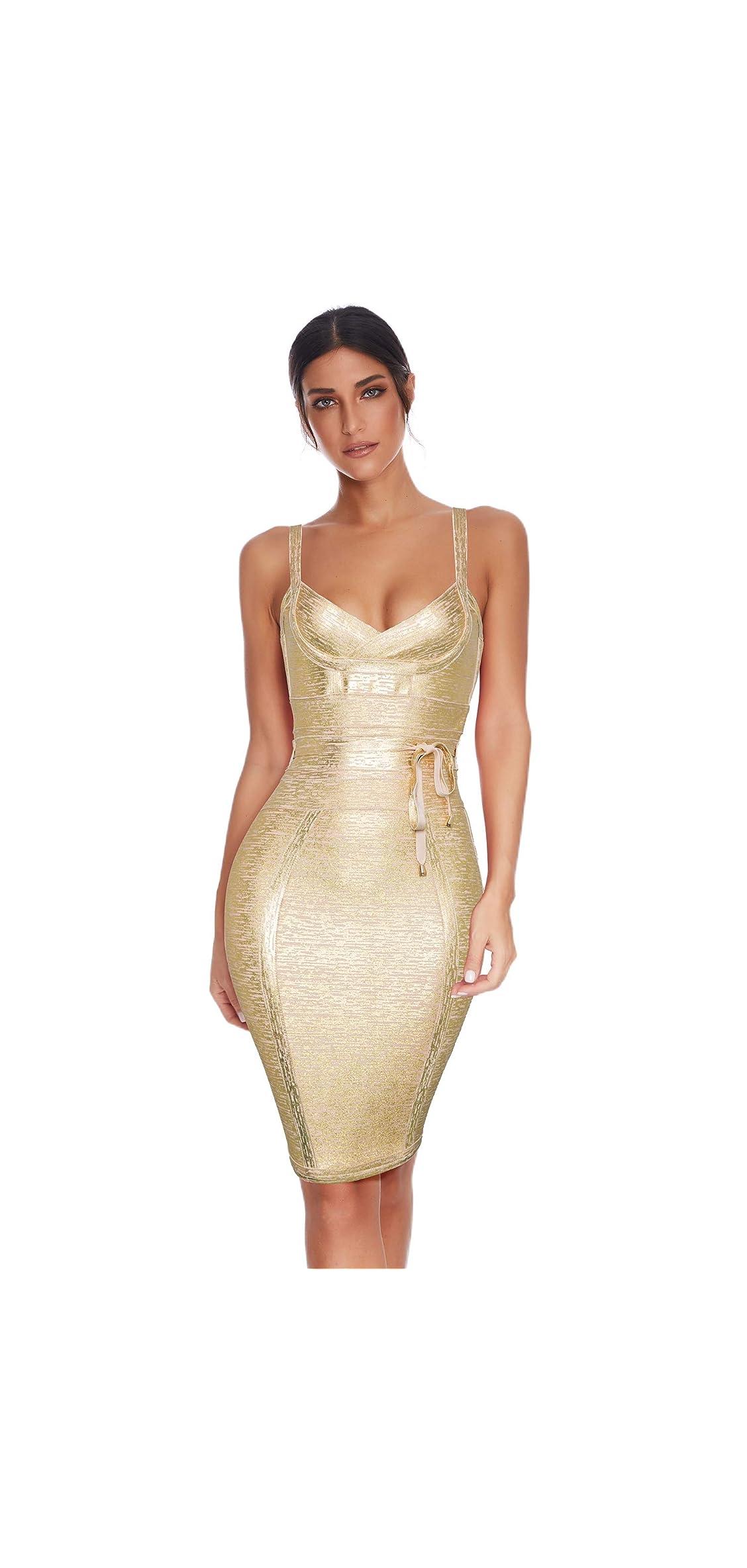 Womens Rayon Belt Detail Bandage Bodycon Party Dress