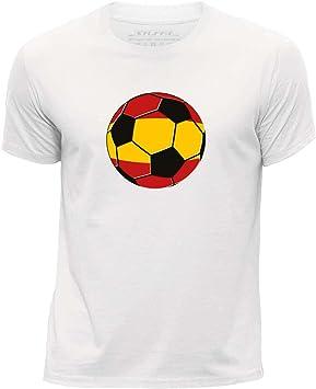 Stuff4 Chicos/Edad de 3-4 (98-104cm)/Blanco/Cuello Redondo de la Camiseta/ España/Español Fútbol: Amazon.es: Electrónica