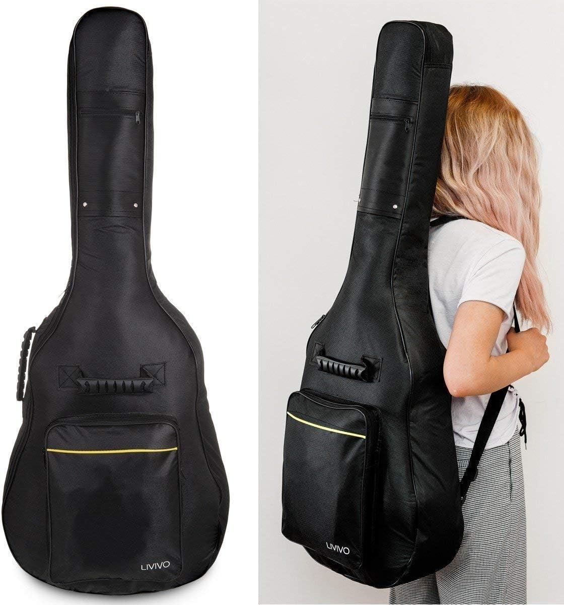 Guitarra acústica 3/4de 90 cm, para estudiantes, adultos o principiantes, con 6 cuerdas de nailon, GUITAR BAG