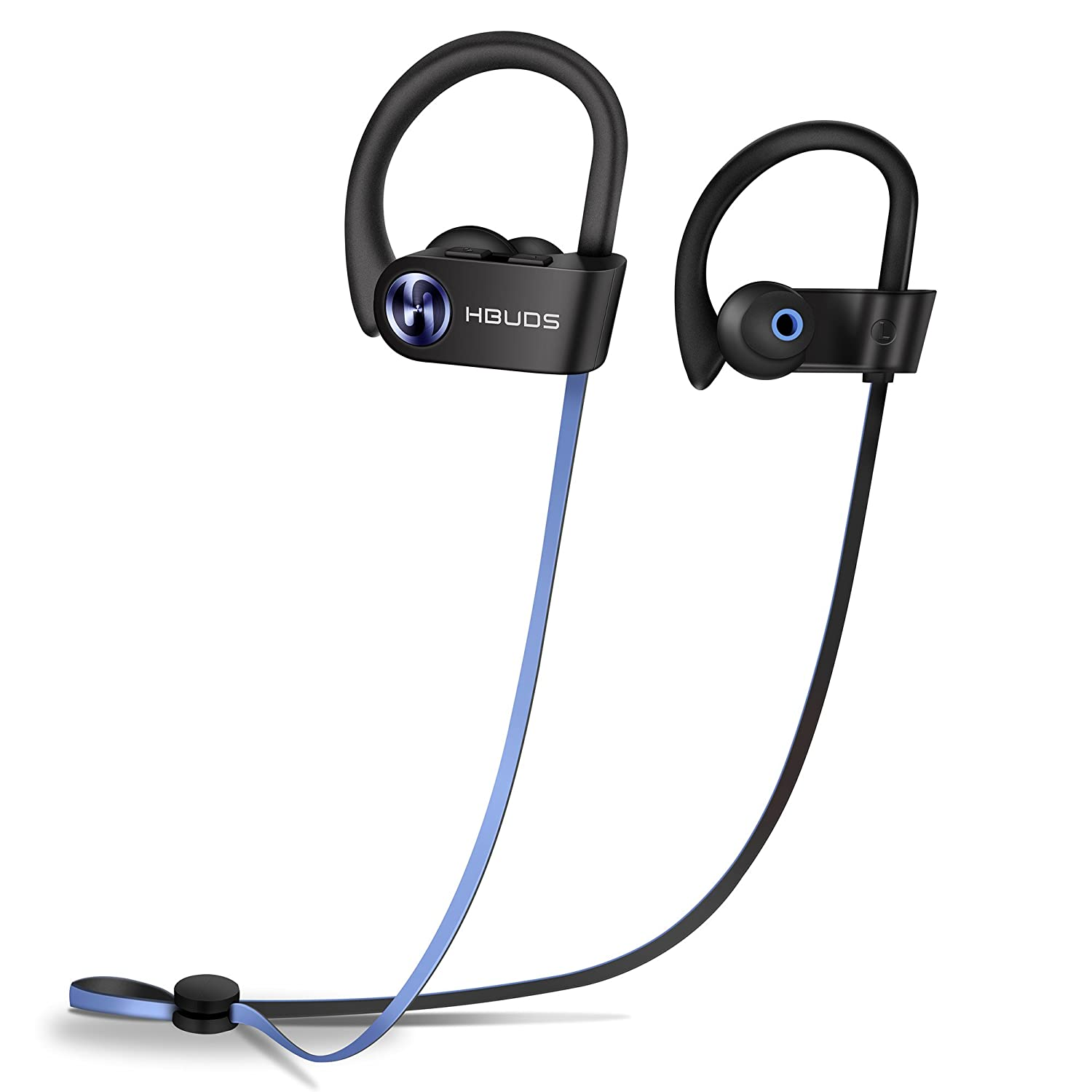 Bluetooth Earphones, Sports Headphones Hbuds H1 IPX7 Sweaterproof Bluetooth 4.1 in-Ear Earbuds with Mic for Running, 9 Hour Battery & Noise Cancelling Wireless Eardphones